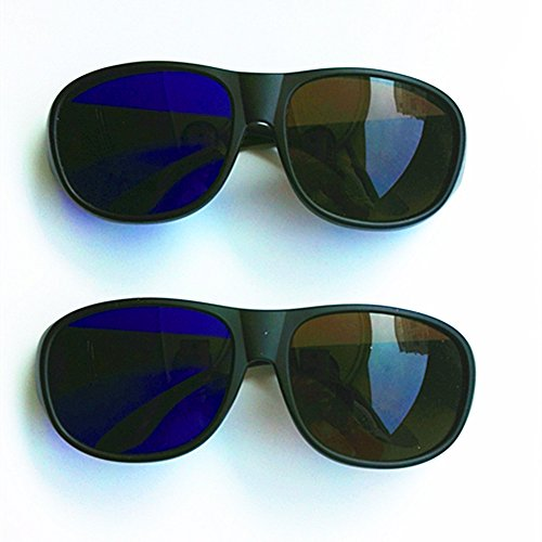 Brown blue - Amber Cyan Anaglyph Simple style 3D Glasses 3D movie game - 2 Packs