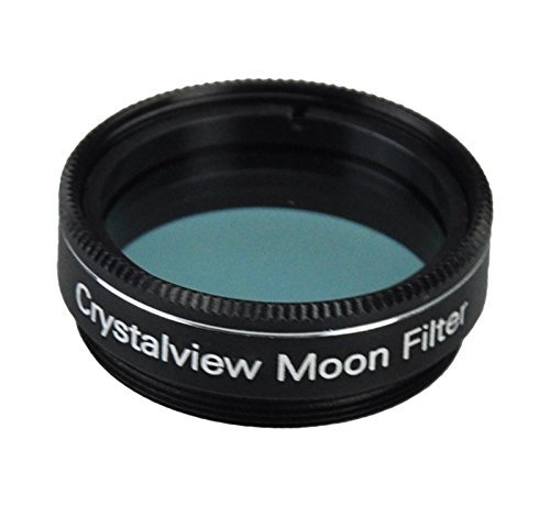 Gosky 1.25 Crystalview Moon Filter for Telescope Eyepiece - Standand 1.25inch Filter Thread - Metal Frame - Optical Glass - Enhance Lunar Planetary Views - Eliminate The Street Light Smog