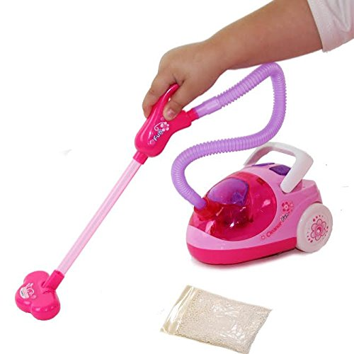 Toy Vacuum Cleaner – Pretend Play Housekeeping Clean up Toy Vacuum Cleaner with Real Suction – $12.99