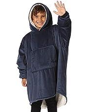 THE COMFY Original JR | De originele oversized draagbare Sherpa-deken voor kinderen, gezien op Shark Tank, One Size Fits All