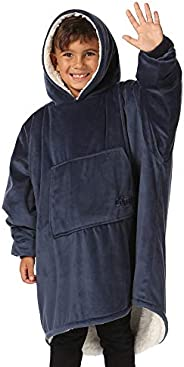 THE COMFY Original JR | The Original Oversized Sherpa Wearable Blanket for Kids, Seen On Shark Tank, One Size