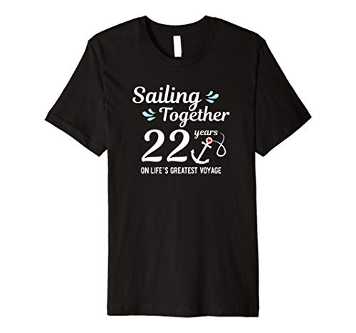 (22nd Wedding Anniversary Cruise Couple Cruising Tshirt)