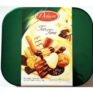 Delacre Biscuits (Delacre Tea Time Exquisite European Biscuit Assortment Tin Box Net Weight 35.3 OZ (1 kg))