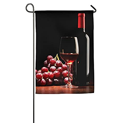 Red Wine Garden Flag Colorful Mulitcolor Bright Cute USA-Produced Garden Flag/Protest Flag/Match - Red Usa Merlot