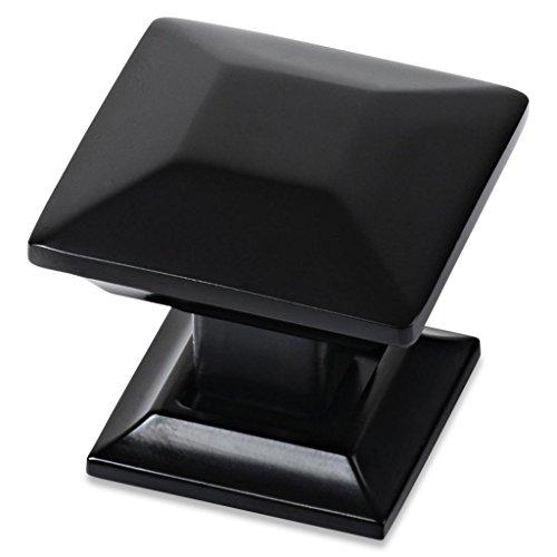 - Southern Hills Black Cabinet Knobs - Pack of 5 - Square Kitchen Cupboard Knobs Drawer Pulls SHKM006-BLK-5