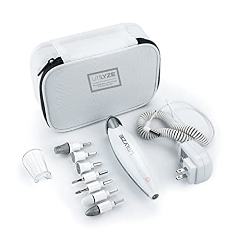 UTILYZE 10-in-1 Professional Electric Manicure & Pedicure Set, Powerful Nail Drill, 10-Speed System, Innovative Touch Control & More. File, Buff, Smooth, Shine Nails, Remove Cuticles & Callus at (Built Sander)