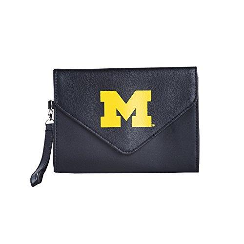 NCAA Michigan Wolverines Wristlet, One Size, Black