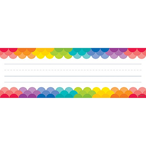 Creative Teaching Press Painted Palette Rainbow Scallops Name Plates (4401)