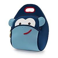 Dabbawalla Bags Monkey - Bolsas para el almuerzo con aislamiento y lavables y ecológicas Tote Blue