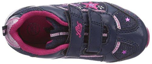 Lico Blinkstar Mädchen Sneakers Blau (marine/pink/lila)