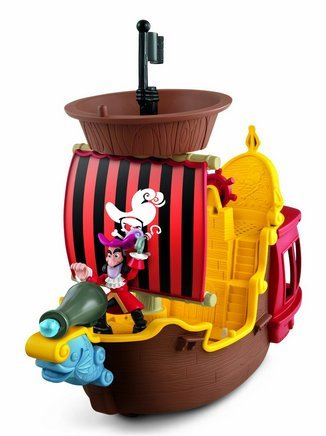 Game / Play Fisher-Price Disney's Jake and The Never Land Pirates Hook's Jolly Roger Pirate Ship, player Toy / Child / Kid