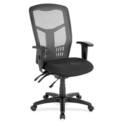 Charmant Lorell Executive Mesh High Back Chair, Black
