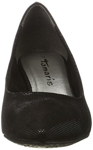 22415 black Tamaris Women's Pumps toe Black Struct Closed THARq