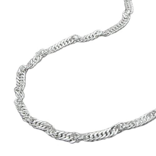 Collier de chaîne femmes singapour coupe de diamant de la chaîne en argent 925 collier pendentif de longueur de chaîne 40 cm largeur 2 mm