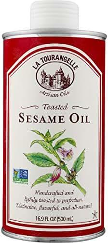 La Tourangelle Toasted Sesame Oil – Rich, Deep, Delicious Flavor – All-natural, Expeller-pressed, Non-GMO, Kosher – 16.9 Fl. Oz.