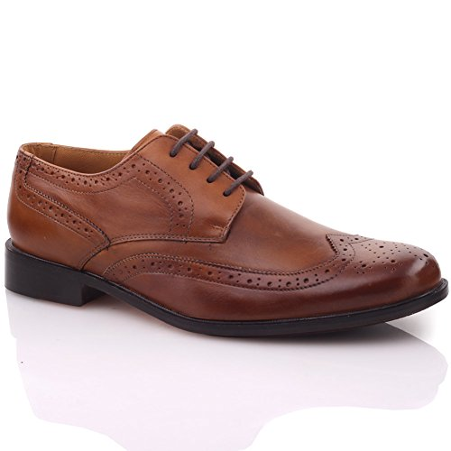 Unze Mens ' Adama' Oxford Laced-Up Spanish Leather Formal Shoes – G00221