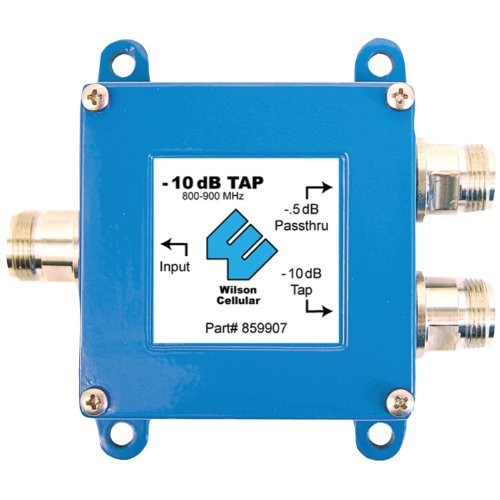 20 Tap Thru (Wilson Electronics 859907 10 dB 800 MHz Tap with 0.5 dB Pass Thru with N Female Connectors)
