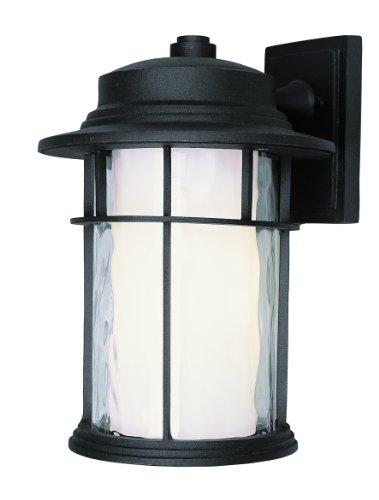 trans globe lighting led-5291BK LED farol de pared para chimenea, 14', Negro