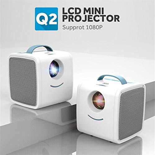 jfhrfged Mini Beamer unterstützt 1080P Full HD Tragbar Videoprojektor LED 20000 Stunden Heimkino Projector (Weiß…