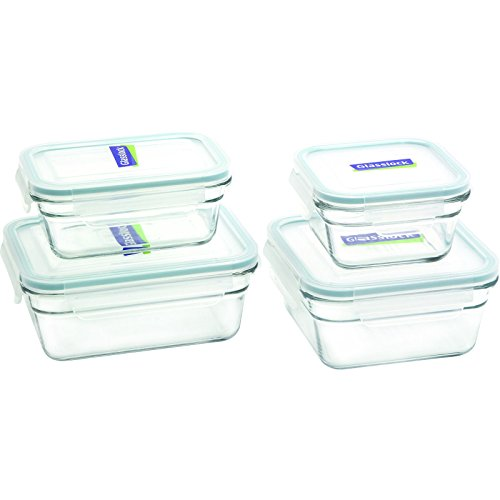 (Glasslock 8-Piece Rectangle and Square Assorted Oven Safe Container Set)