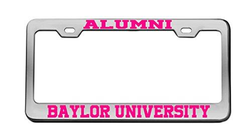 Baylor University Alumni - Alumni Baylor University Chrome License Plate Frame Tag Pink