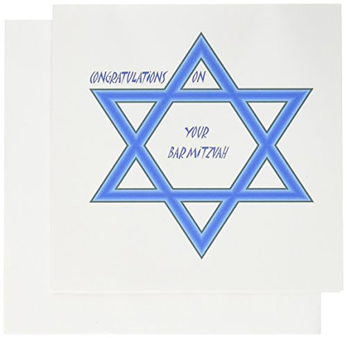 3dRose Bar Mitzvah Congratulations - Greeting Cards, 6 x 6 inches, set of 6 (gc_51462_1) (Bar Mitzvah Congratulations)
