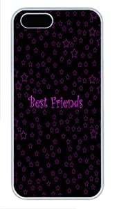 IMARTCASE iPhone 5S Case, Best Friends Starry Design Polycarbonate Back Case for Apple iPhone 5s/5 White