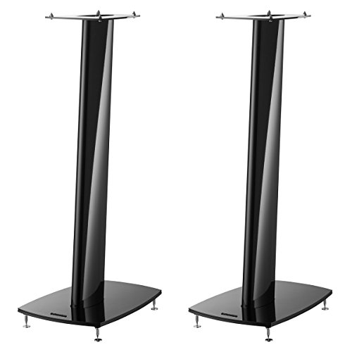(Dynaudio Stand 3X Speaker Stands for Compact Loudspeakers - Pair (Gloss Black) )