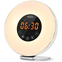 INLIFE Sunrise Alarm Clock Wake Up Light with 7 Changing Colors Night Light