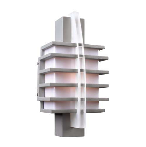 PLC Lighting 16602 SL Outdoor Fixture from Carre Collection, Silver Finish