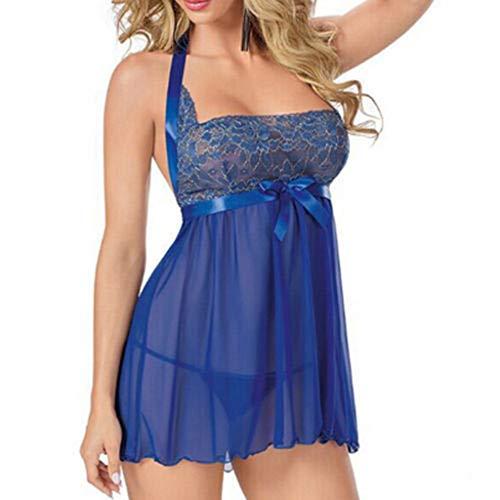 Peigen Women Bodysuit Nightwear Babydoll Nightgown Lingerie Sexy Chemise Plus Size Garter Blind Fold Intimate Set -