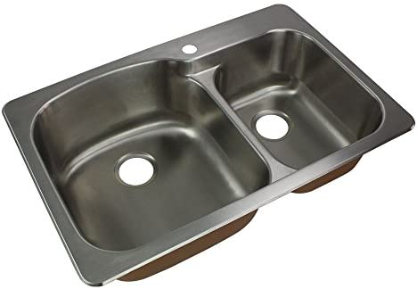 Transolid CTDD33229-1 Kitchen Sink, 33-in x 22-in x 9-in, Stainless Steel