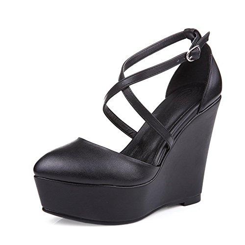 Noir 1TO9 EU Noir 36 Femme Plateforme 5 qwAS7