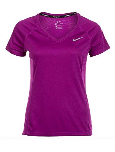 Bold Berry (Nike Dry Miler V-Neck Women's Running Top (XL, Bold Berry))