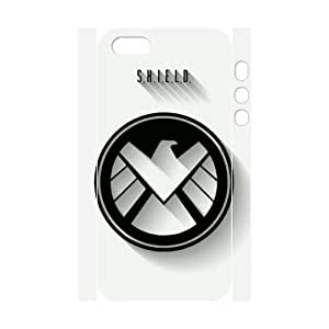 Super Custom AGENTS OF S.H.I.E.L.D Design PC and TPU Phone Case Cover Laser Technology for iPhone 5,5S 3D