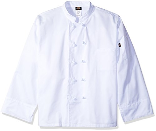 Dickies Chef Classic Knot Button Coat, White, XXX-Large