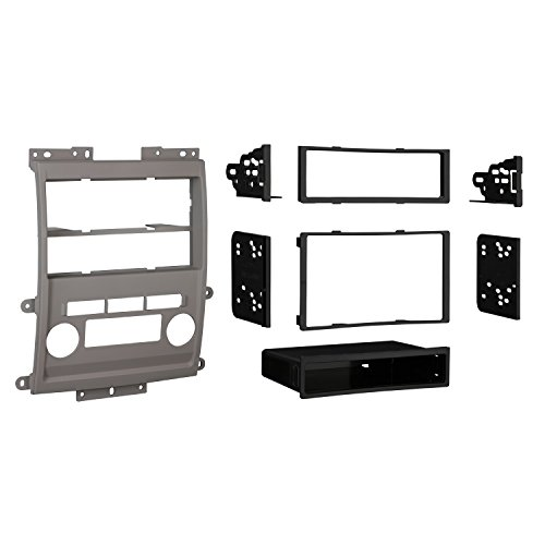 Metra 99-7428G Double DIN/ISO DIN Installation Dash Kit for 2009 Nissan Frontier LE/SE (Gray) ()