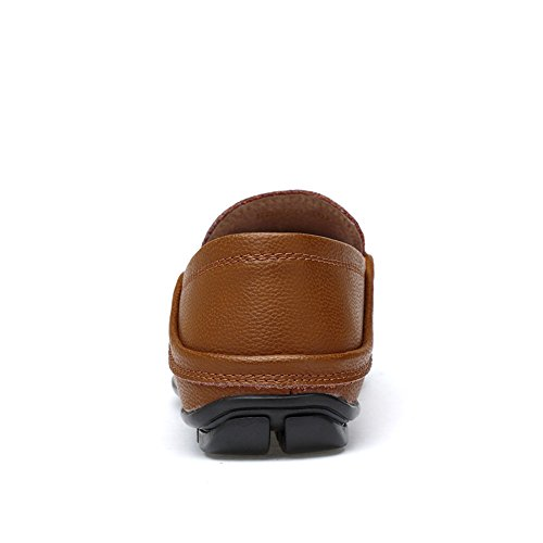 da in casual Color Brown Meimei e Dimensione vera uomo shoes foderati pelle mocassini 41 barca per leggeri rinfrescanti da Hollow Mocassini traspirante EU 6TvqHTxE
