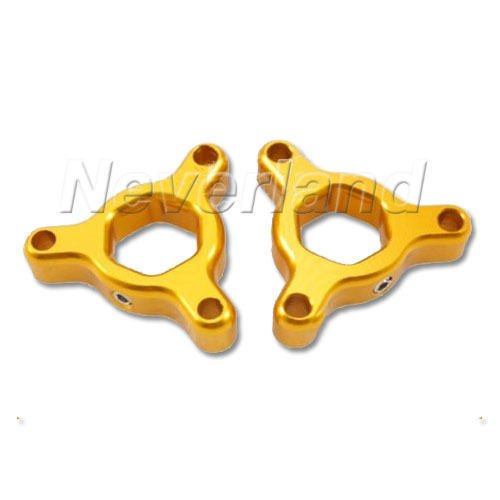 Price comparison product image Noviame(TM) Hot sale 2pcs Motorcycle 14mm Gold Fork Preload Adjusters for Suzuki GSXR 1000 2001-2008 For Yamaha YZF R1 1998-2010D10