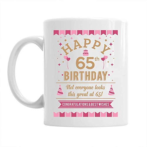 65th Happy Birthday Gift Mug Present for 65
