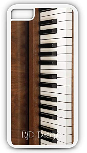 iPhone 7 Case Piano Keyboard Musical Instrument Ivory Keys Pedal Customizable by TYD Designs in White Plastic