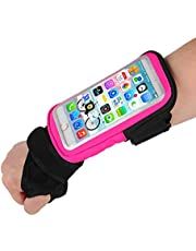 Wristband Phone Holder Forearm Thumb Wrist Bag, Riding Wristband Pouch Running Armband with Key ID Cash Holder for iPhone 12 Pro/12/12 mini/11/11 Pro/11 Pro Max Great for Cycling, Jogging, Exercise