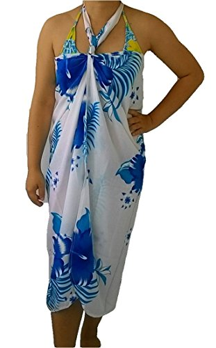 trendyloosefit-sarong-pareo-wraps-beach-cover-dress-skirt-floral-hibiscus-white-blue
