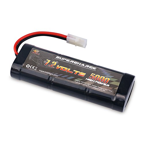 MELASTA 7.2V 5000mAh Ni-MH High Power Battery Packs with Tamiya Discharge Connector for RC Racing Cars Boat Aircraft