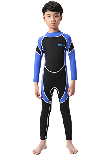 Micosuza Neoprene Wetsuit One Piece Swimsuit for Kids Boys Girls UV Protection for Swim Surf Snorkel Scuba Diving (Suits Surf)