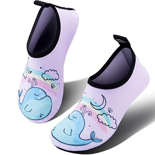 Shoes Boy Girl Baby Barefoot Aqua Socks Shoes for Beach Pool Surfing 309 Whale Pink 2.5-3.5 ()