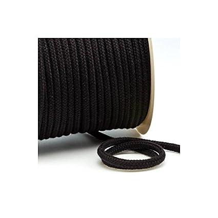 Unbekannt Corde en Coton 6 mm 802 Noir