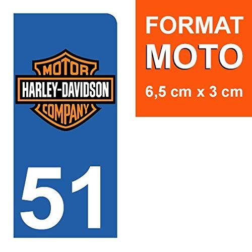 Harley Davidson Stickers Garanti 5 Ans THELITTLESTICKER 1 Sticker pour Plaque dimmatriculation Moto Nos Stickers sont recouvert dun pelliculage de Protection sp/écifique 51 Marne
