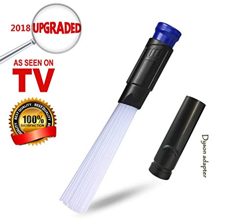 KKPOT Universal Vacuum Dusty Brush,Attachment Tool of Vac Cleaning Parts with Hose Extension Accessories Adapter,As Seen on TV