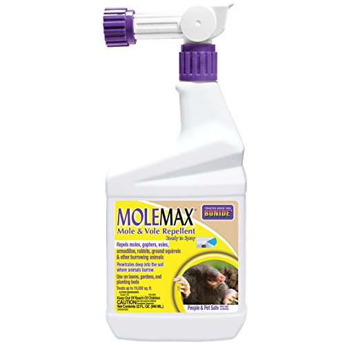 Bonide (BND690) - Molemax Mole & Vole Burrowing Animal Repellent, Ready to Spray Rodent Repellent (32 oz.)